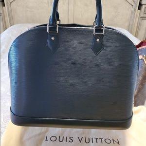 Louis Vuitton Alma Gm Black Epi Leather
